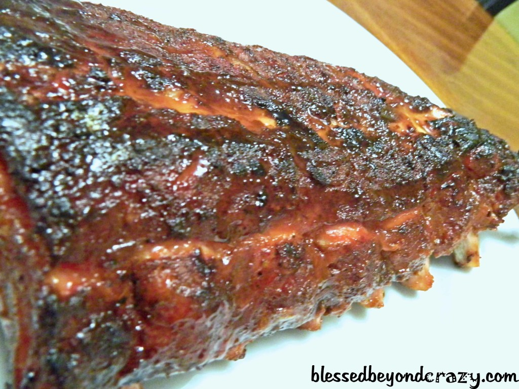 Smoke Honey BBQ Baby Back Ribs: The ribs are done when the bone tips ...