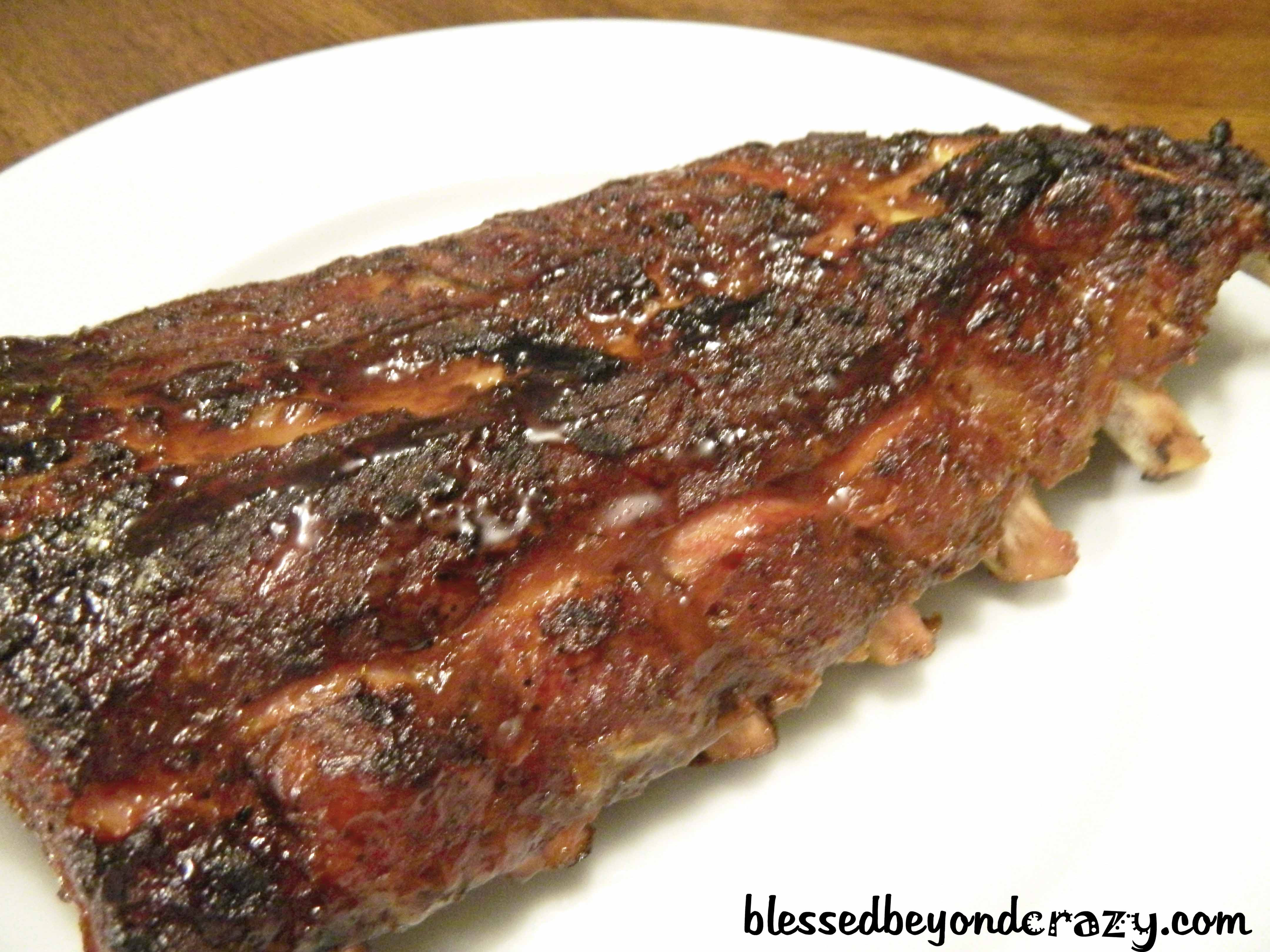 Smoked Honey BBQ Baby Back Ribs - Blessed Beyond Crazy