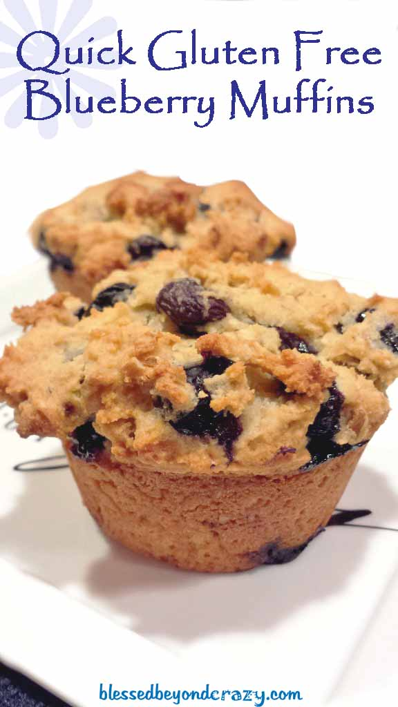 Quick Gluten Free Blueberry Muffins - Blessed Beyond Crazy