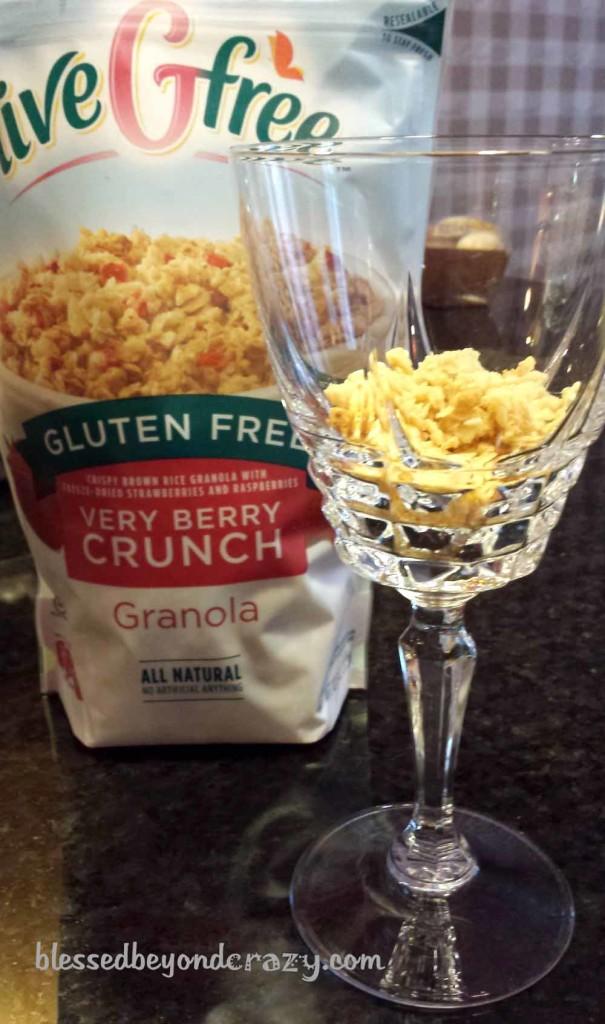 I used gluten free granola in my parfait