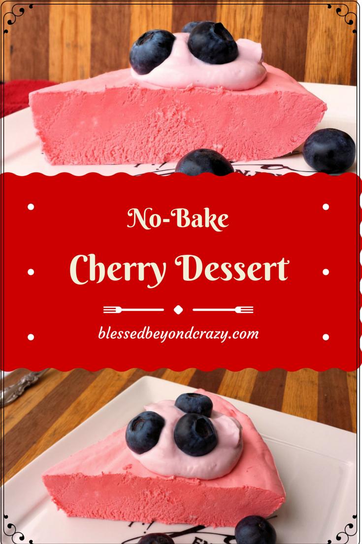 No Bake Cherry Dessert