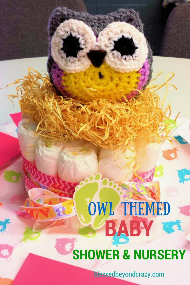 Owl Theme Baby Shower and Nursery