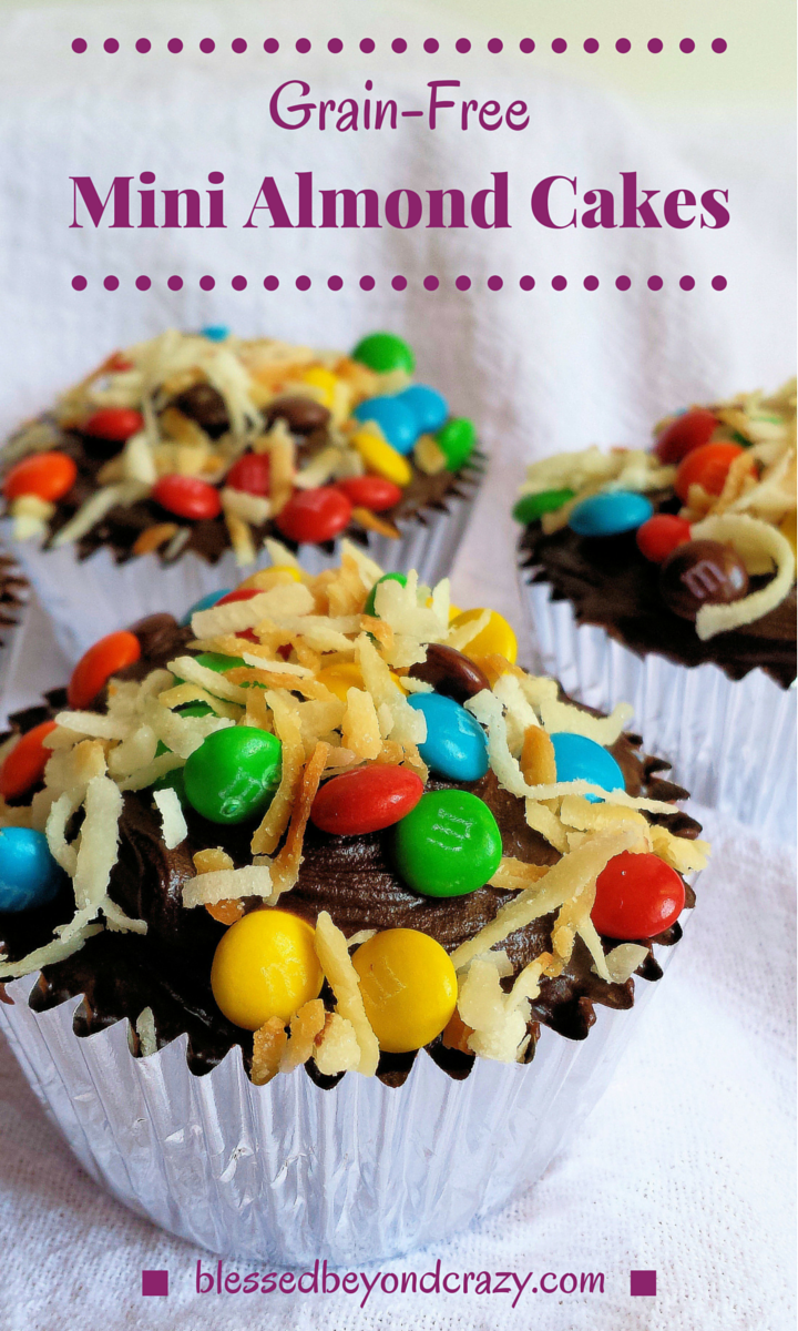 Grain-Free Mini Almond Cupcakes