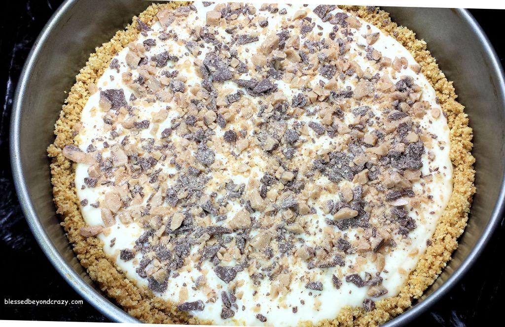 Ready to bake Heath Bits Cheesecake (GF Option)