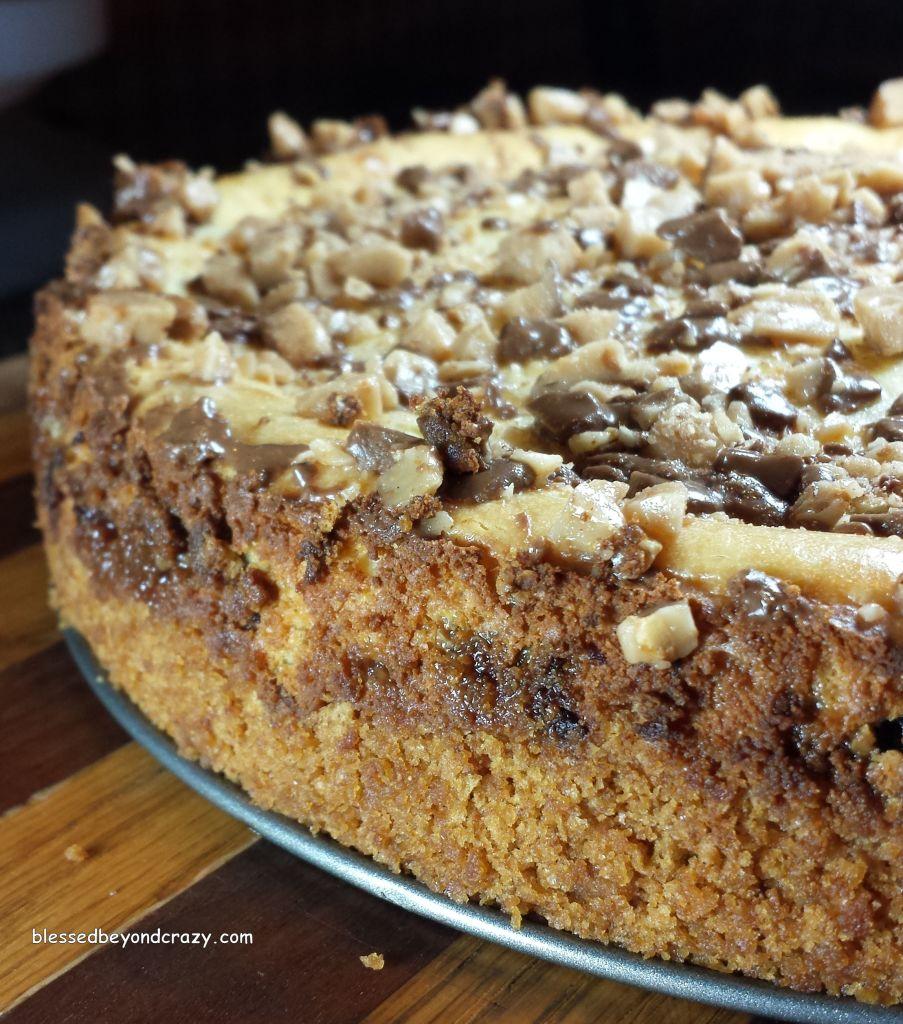 Baked Heath Bits Cheesecake (GF Option)