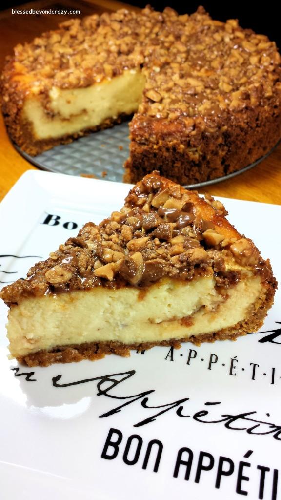 Slice of Heath Bits Cheesecake (GF Option)