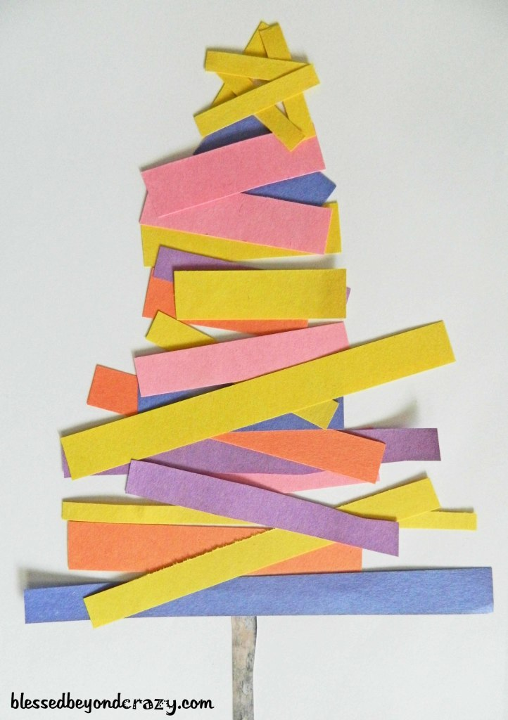 construction paper christmas tree