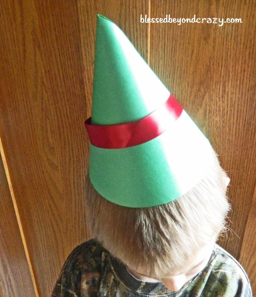 paper elf hat