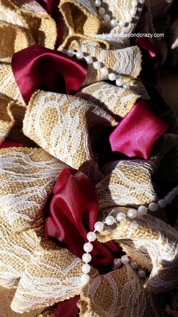 Burlap Wreath 18