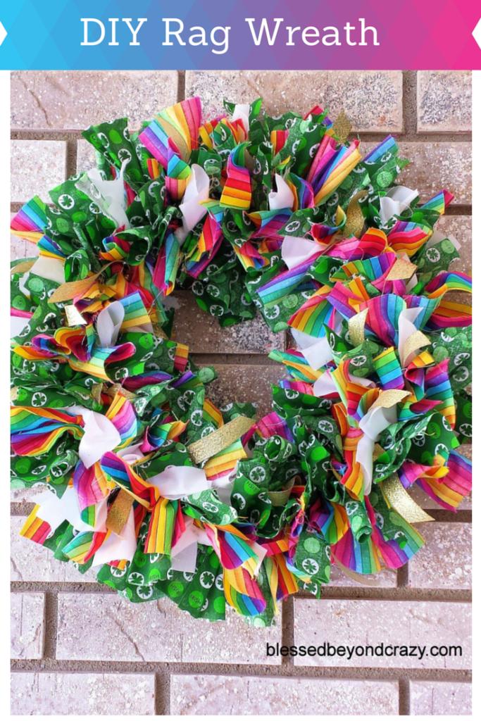 DIY Rag Wreath 1