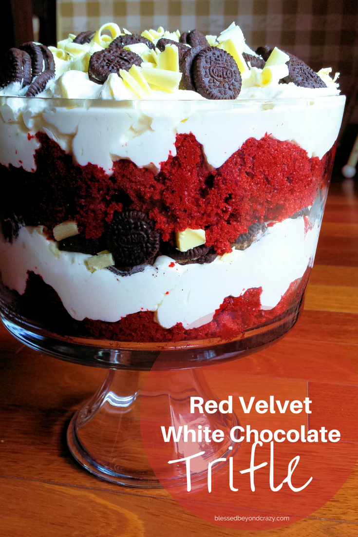 Red Velvet White Chocolate Trifle