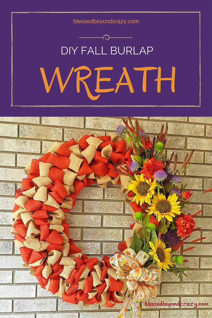 DIY Fall Burlap Wreath