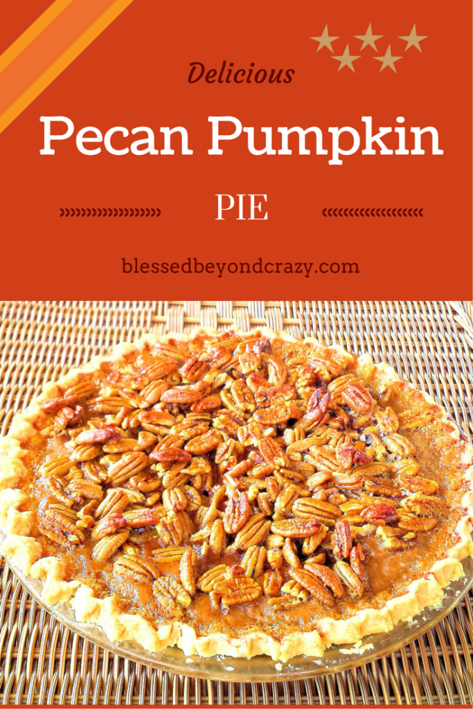 Pecan-Pumpkin Pie is a wonderful combination of flavors that will make ...