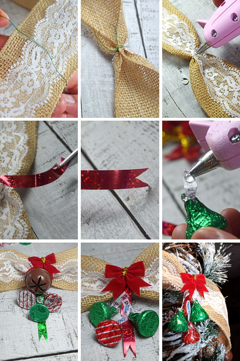 Christmas KISSES Burlap Garland