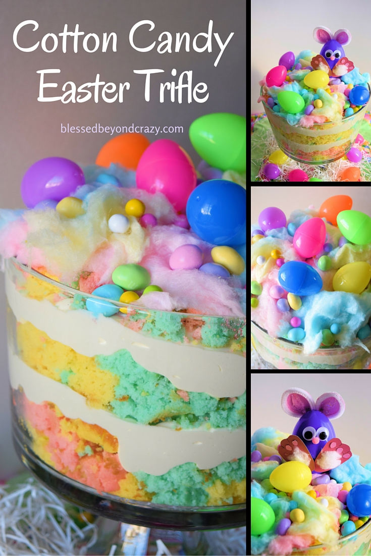 Cotton Candy Easter Trifle -