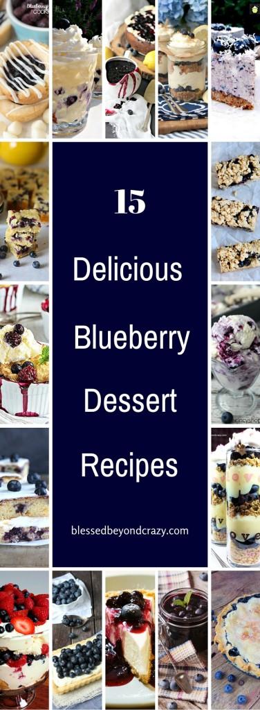 15 Delicious Blueberry Dessert Recipes