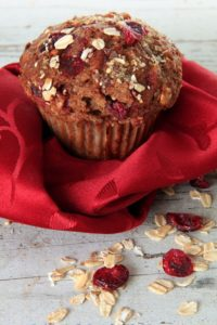 Cranberry Honey Pecan Bran Muffins