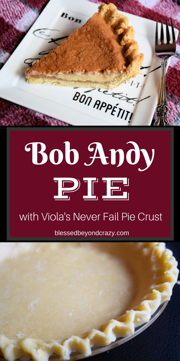 Bob Andy Pie & Never Fail Pie Crust 2016