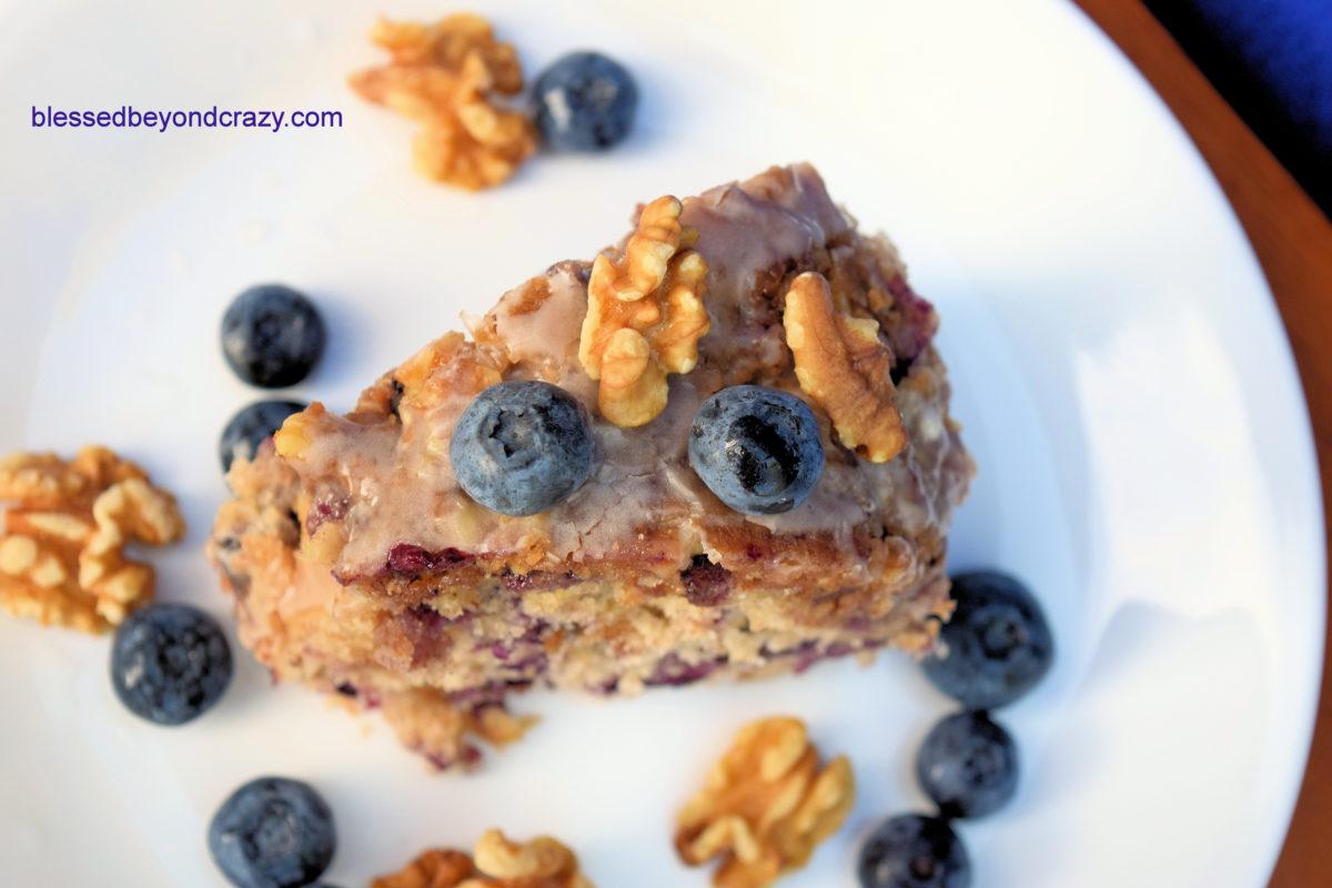 Blueberry Walnut Bundt Cake 6