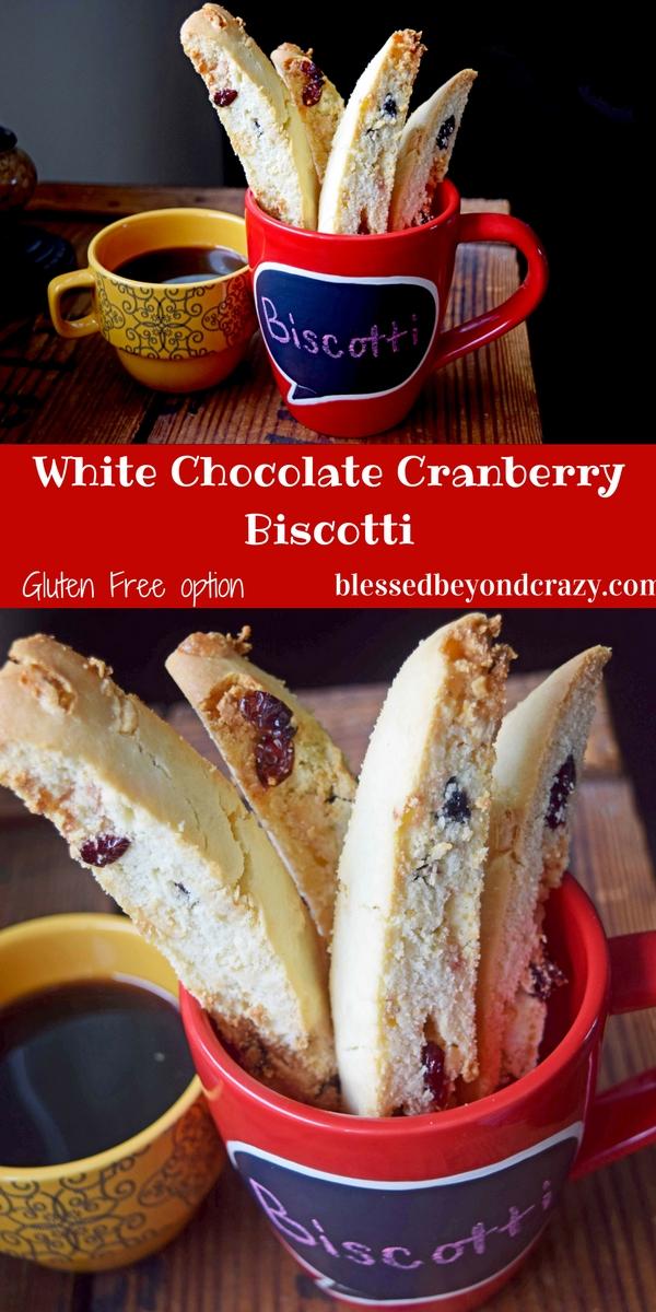 White Chocolate Cranberry Biscotti