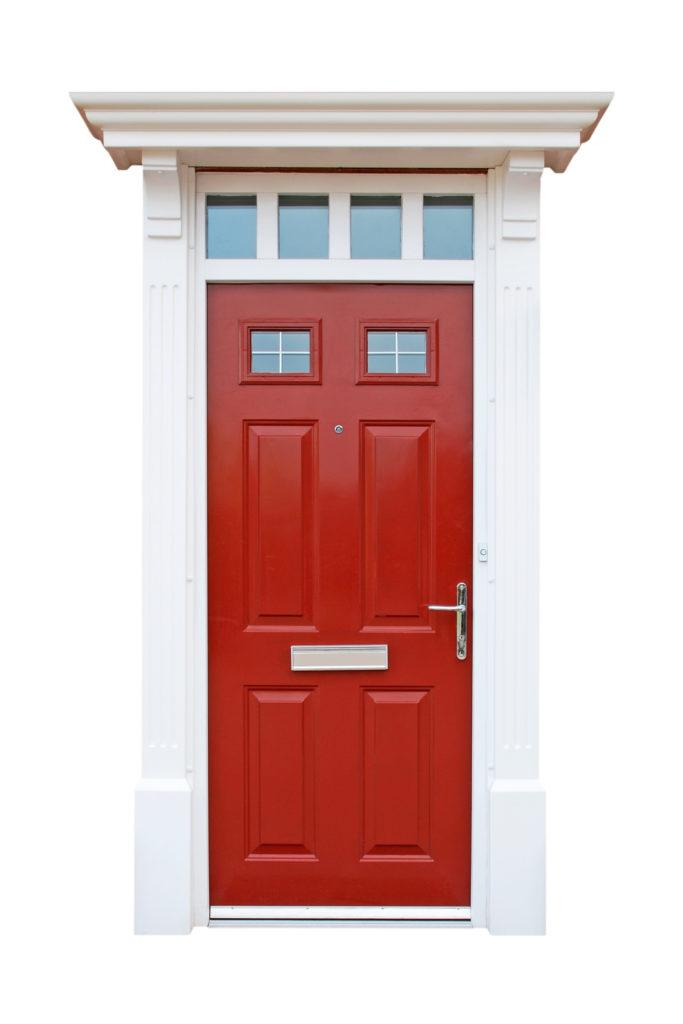 red front door update your home