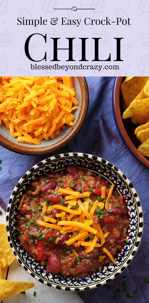 Simple And Easy Crock Pot Chili Naturally Gluten Free