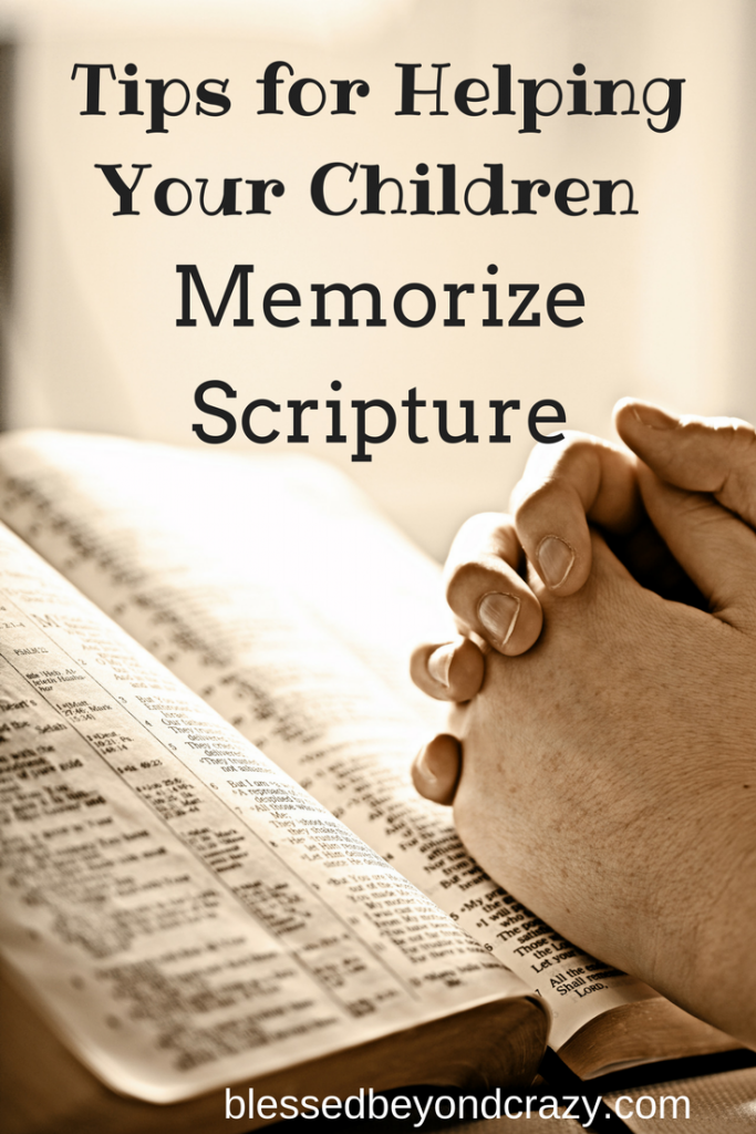 memorizing bible verses