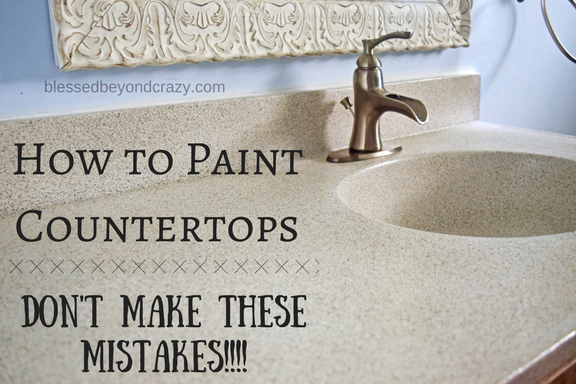 How to paint a countertop don 39 t make these mistakes for Can you paint granite countertops