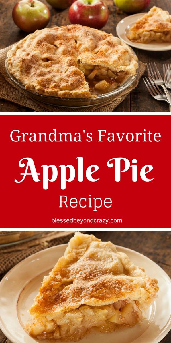 Grandma's Favorite Apple Pie Recipe