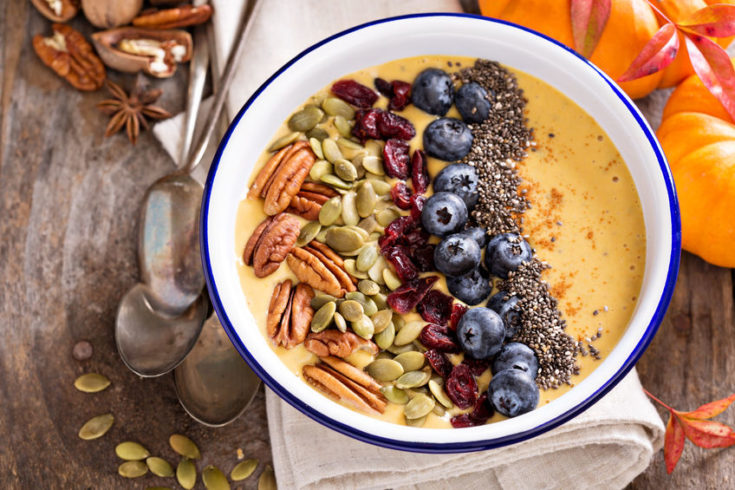 Pumpkin Pie Smoothie in a Bowl
