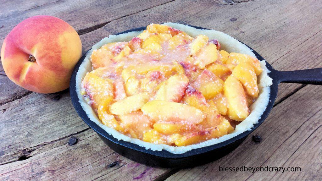 Rustic Cast Iron Skillet Peach Pie