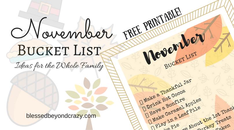 November Bucket List Ideas For The Whole Family