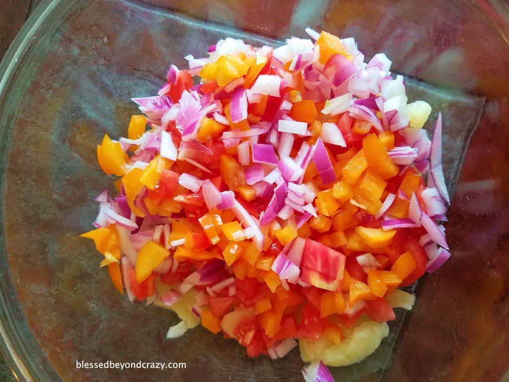 Pineapple Tomato Salsa