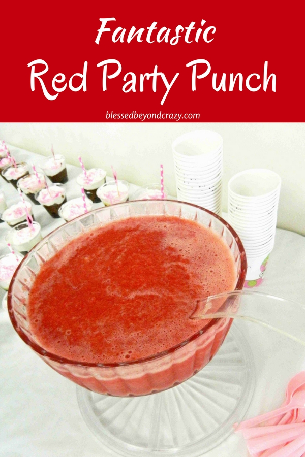Fantastic Red Party Punch