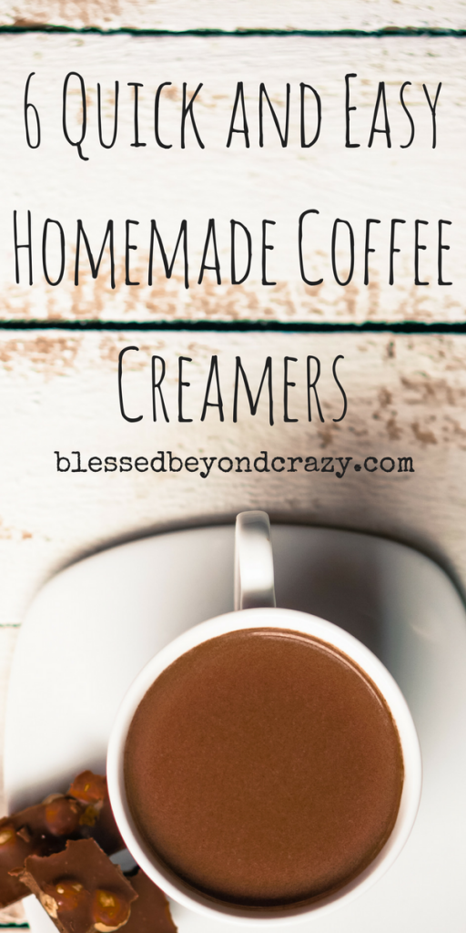 6 Quick and Easy Homemade Coffee Creamers