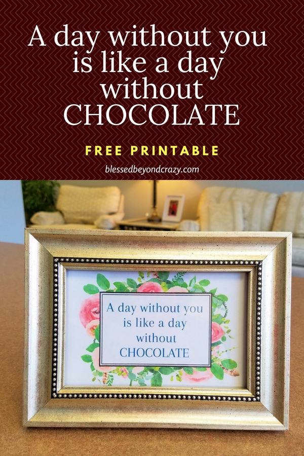 A Day Without You - Free Printable