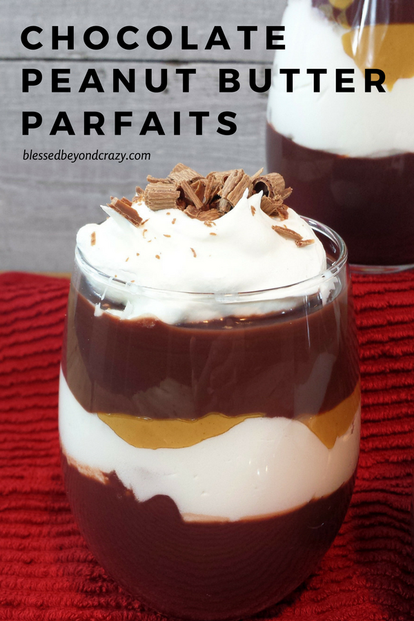 Chocolate Peanut Butter Parfaits