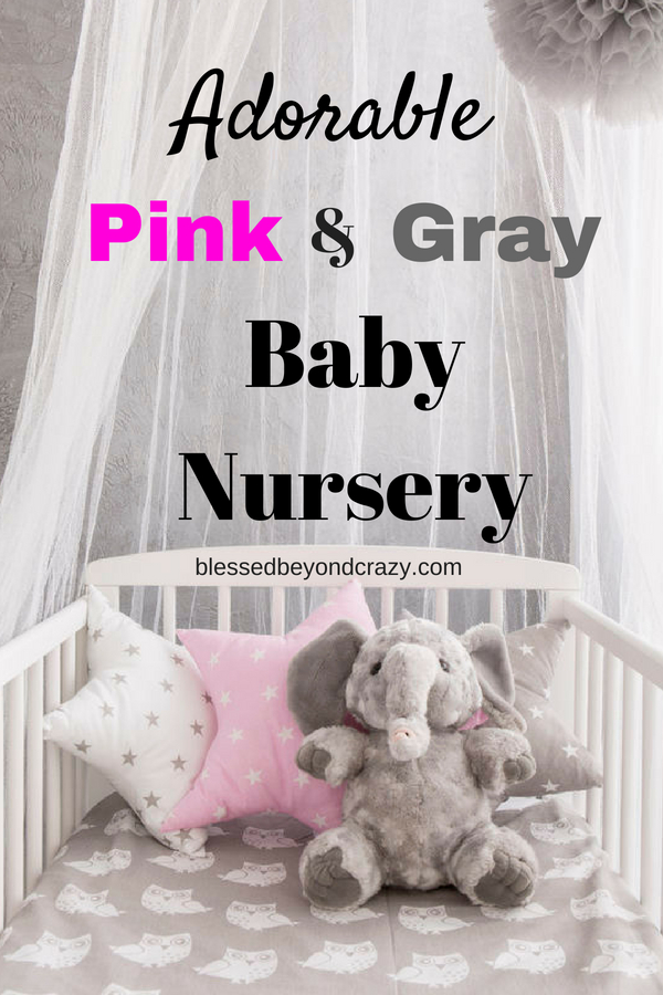 Adorable Pink and Gray Baby Nursery