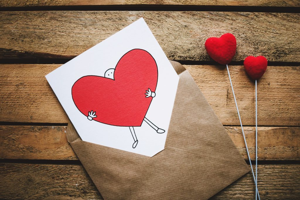 Valentine for him Rustic Valentine Masculine Valentine Valentine for her