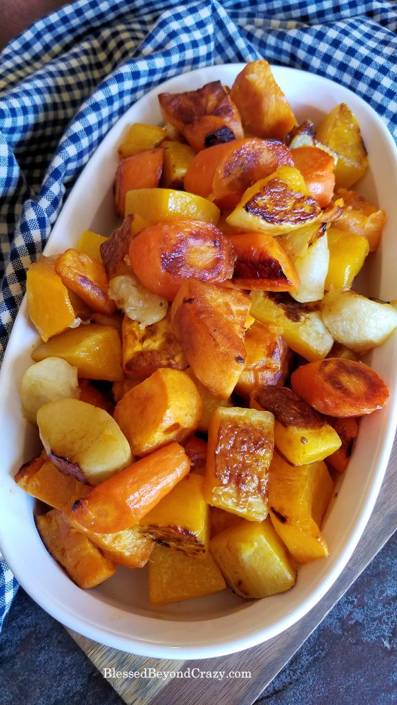 Platter of Healthy Sheet Pan Roasted Vegetables