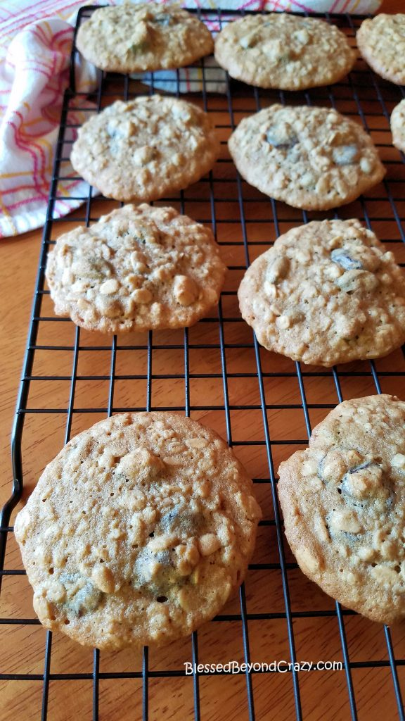 Cherry Pistachio Oatmeal Cookies Cooling