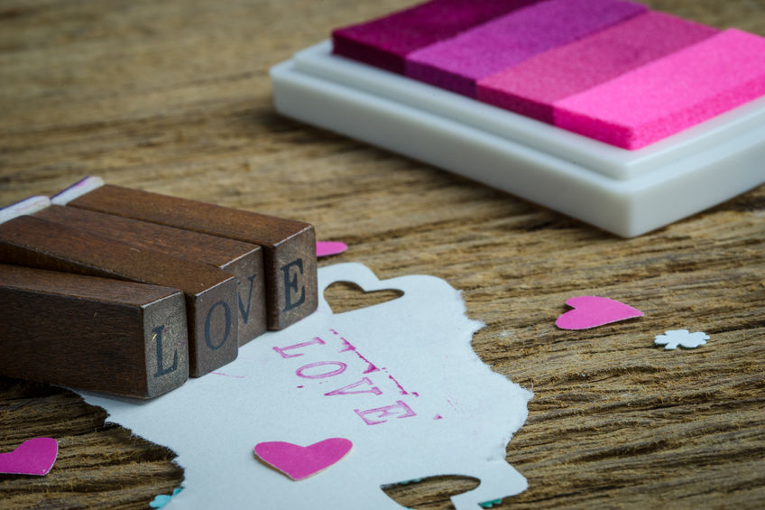 Romantic DIY wedding Love Stamp
