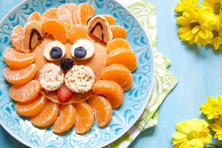 A finished plate of Lion King Breakfast