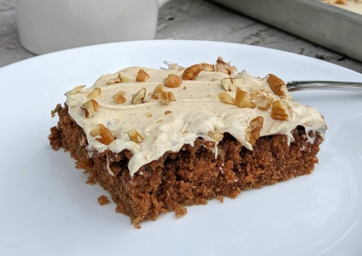 Chocolate Espresso Zucchini Sheet Cake
