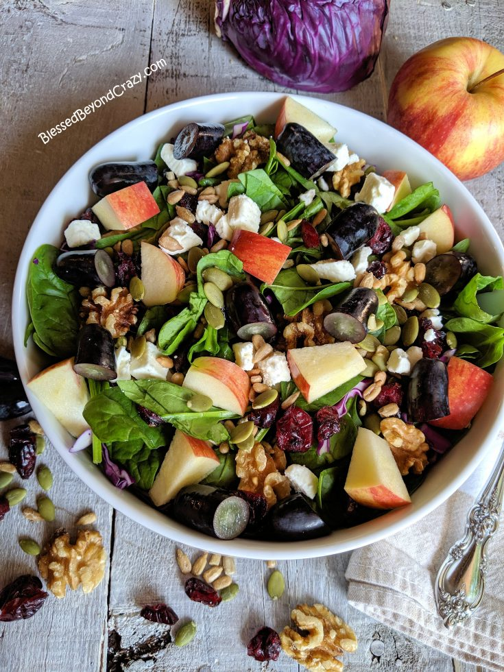 Fall Harvest Salad with Hot Bacon Dressing