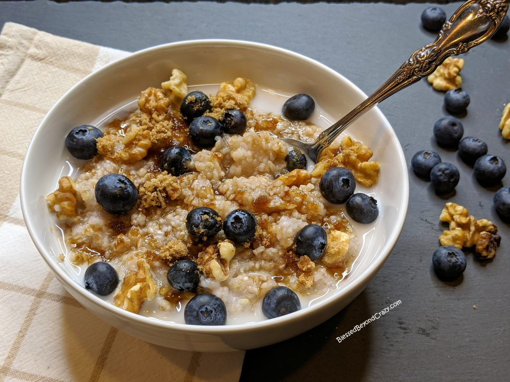 Ready to eat buckwheat porridge