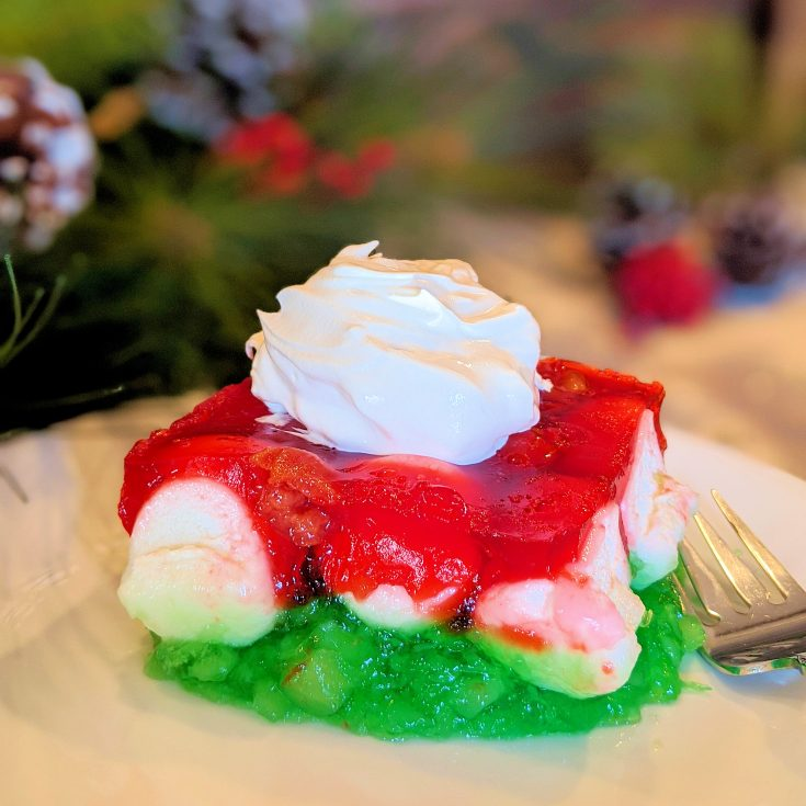 Featured photo of Red and Green Christmas Gelatin Salad