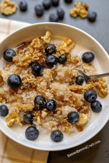 Ready to serve buckwheat porridge