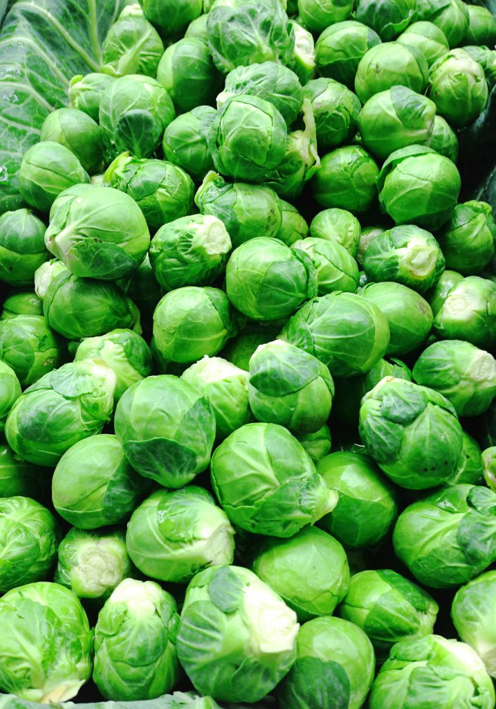 Fresh uncooked brussel sprouts