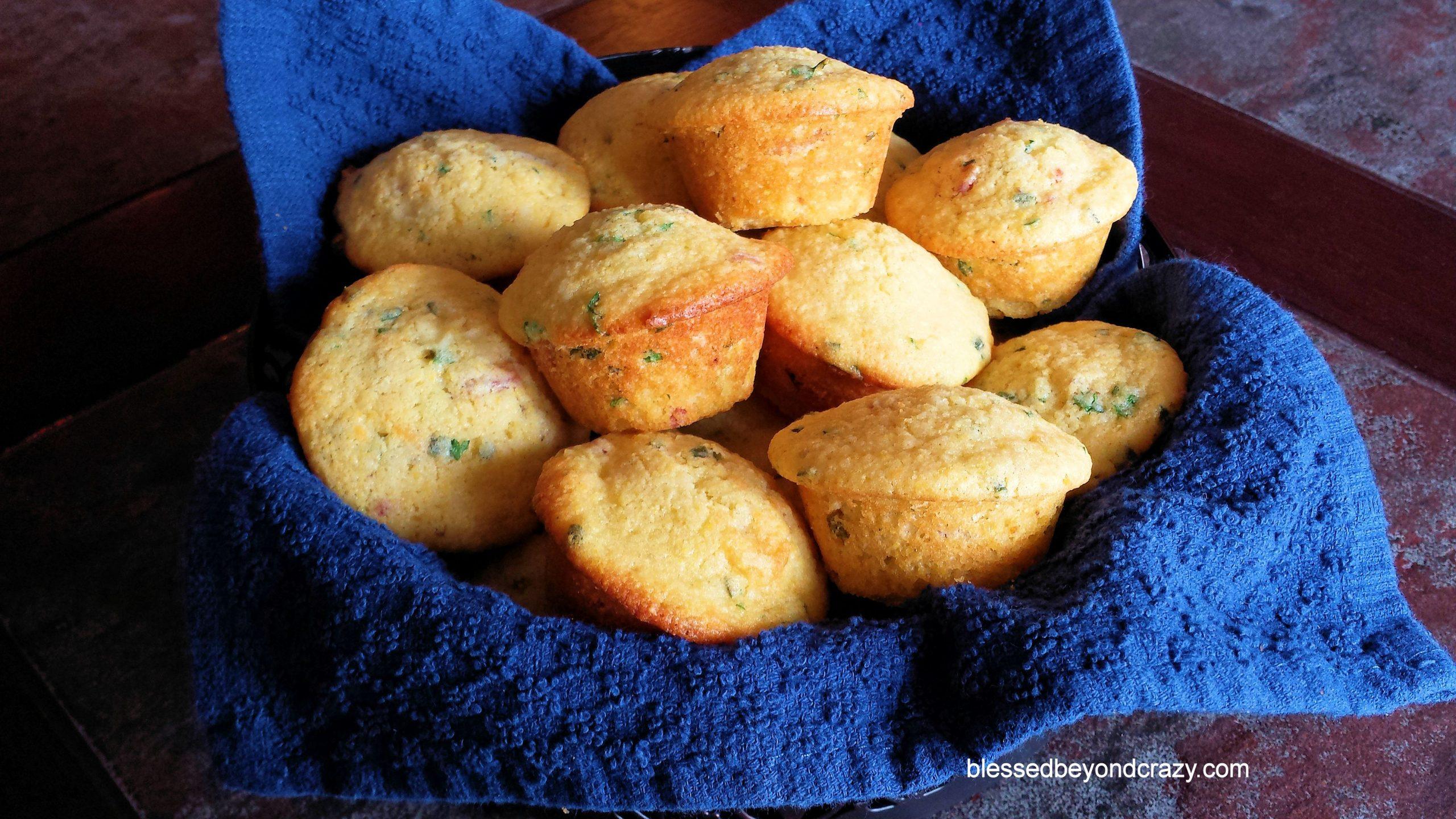 Close-up of Cornbread Herb Muffins (GF Option)